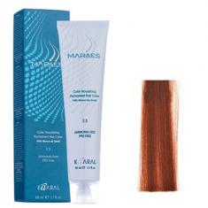 Крем-краситель стойкий без аммиака Kaaral Maraes Nourishing Permanent Hair Color 6.4 темный блондин медный 60 мл