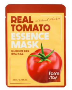 Тканевая маска для лица с экстрактом томата FarmStay REAL TOMATO ESSENCE MASK 23мл